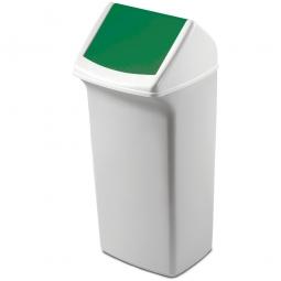Abfall- und Wertstoffsammler mit Schwingdeckel, BxTxH 366 x 320 x 747 mm, 40 Liter, grün