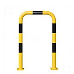 Rammschutz-Bügel, HxB 1200 x 750 mm, Hoch belastbarer Schutzbügel aus Gütestahl,  Ø: 76 mm