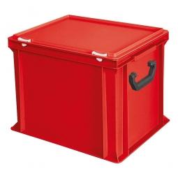 Euro-Koffer, LxBxH 400x300x330 mm, rot, mit 2 Tragegriffen auf den Stirnseiten