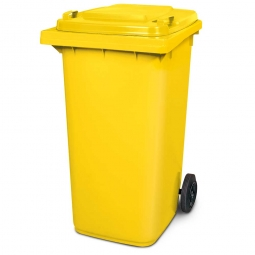 Müllbehälter, 240 Liter, gelb, BxTxH 580 x 730 x 1075 mm, Polyethylen (PE-HD)