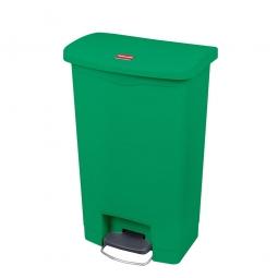 Tretabfalleimer SlimJim, 50 Liter, grün, BxTxH 457x292x719 mm, Polyethylen, Pedal an der Breitseite