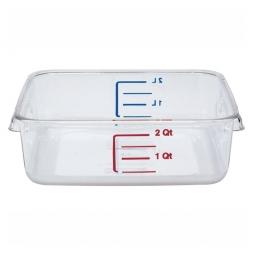 Platzsparbehälter, viereckig, LxBxH 220 x 210 x 70 mm, 2 Liter, glasklar