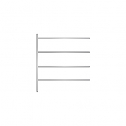 Aluminium-Anbauregal mit 4 geschlossenen Regalböden, Stecksystem, BxTxH 1475 x 400 x 1600 mm, Nutztiefe 340 mm
