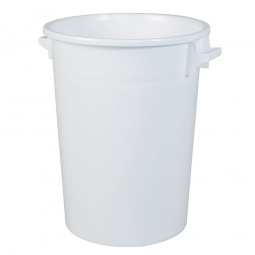 [B-Ware] - Rundtonne 100 Liter, Ø oben/unten 520/415 mm, weiß, Polyethylen-Kunststoff (PE-HD)