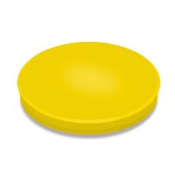 Haftmagnete, gelb, Durchmesser 40 mm, Haftkraft 800 g, Paket=10 Magnete