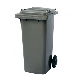Müllbehälter, 120 Liter, grau, BxTxH 480 x 550 x 930 mm, Polyethylen (PE-HD)