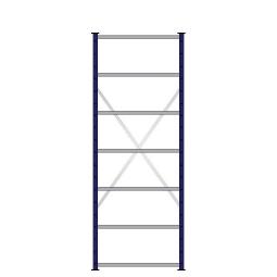 Ordner-Steck-Grundregal, doppelseitige Ausführung, HxBxT 2300x870x630(2x315) mm, Oberfläche kunststoffbeschichtet