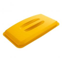 Deckel für Abfall- und Wertstoffbehälter 60 Liter, mit Griffen für leichtes Abnehmen, gelb