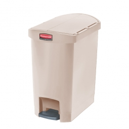 Tretabfalleimer SlimJim, 30 Liter, beige, LxBxH 497x312x566 mm, Polyethylen, Pedal an der Schmalseite
