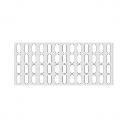 Gitterregalboden aus Kunststoff (Polystyrol), BxT 1350 x 580 mm, bestehend aus 3 Bodensegmenten