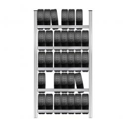 Reifenregal mit 5 Reifenebenen, verzinkt, Stecksystem, BxTxH 1580 x 425 x 3000 mm