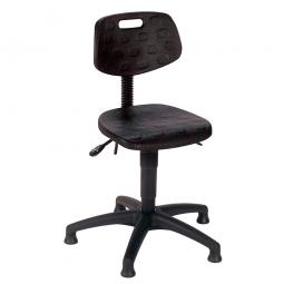 Arbeitsdrehstuhl nach DIN 68877, Sitz- u. Rückenlehne aus Polyurethanschaum
