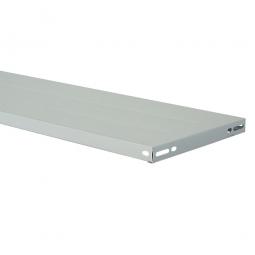 Steckregal-Fachboden, kunststoffbeschichtet, BxT 800x500 mm, inkl. 4 Regalboden-Träger und 1 Unterzug