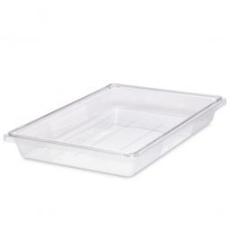 Rubbermaid Lebensmittelbehälter, LxBxH 660 x 457 x 90 mm, 19,5 Liter, glasklar
