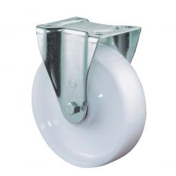Schwerlast-Bockrolle, Rad-ØxB 125x50 mm, Tragkraft 700 kg, weiß