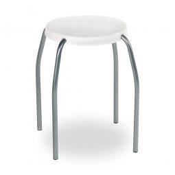 Sitzhocker, weiß, ØxH 305x440 mm