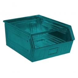 Sichtbox SB0 aus Stahlblech, 83 Liter, LxBxH 700/630 x 450 x 300 mm, blaugrün