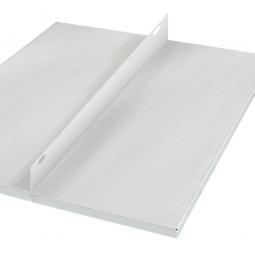 Ordner-Schraub-Fachboden, kunststoffbeschichtet, BxT 1000x600 mm, mit Mittelanschlagleiste