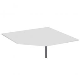 Fünfeck-Verkettungsplatte 90° PREMIUM, Lichtgrau/Silber, BxT 1225x1225 mm