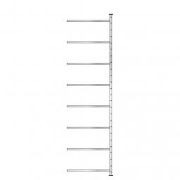 Ordner-Steck-Anbauregal, doppelseitige Ausführung, HxBxT 3000x835x630 m (2x315 mm), Oberfläche glanzverzinkt