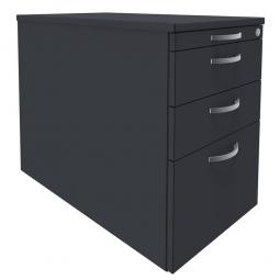 Standcontainer, 4 Schubladen, graphit, BxTxH 438x800x720 mm