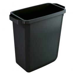 Abfall- und Wertstoffbehälter, eckig, 60 Liter, BxTxH 590x282x600 mm, schwarz