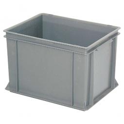 Eurobehälter mit 2 Griffleisten, LxBxH 400 x 300 x 270 mm, 26 Liter, grau
