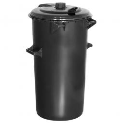 System-Mülleimer, 110 Liter, Kunststoff, anthrazitgrau