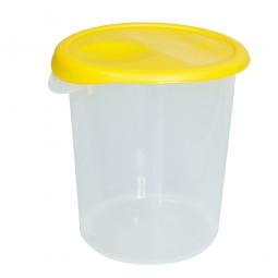Runder Lebensmittelbehälter, Inhalt 17,0 Liter, HxØ 300x330 mm, mit Massskala