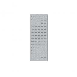 System-Schlitzplatte BxHxT 450x1200x18 mm, Aus 1,25 mm Stahlblech, kunststoffbeschichtet in lichtgrau