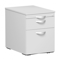 Rollcontainer, 3 Kunststoffschubladen, lichtgrau, BxTxH 438 x 600 x 565 mm