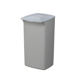 Abfall- und Wertstoffsammler mit Schanierdeckel, HxBxT 640x366x320 mm, 40 Liter, grau/grau