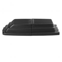 Deckel für Transport- und Schüttwagen aus Polyethylen, schwarz, 2-teilig