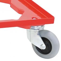 Aufpreis für Flüsterrollensatz Ø 100 mm mit verzinkten Radgabeln, für alle Roller aus ABS-Kunststoff