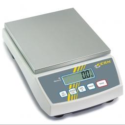 Präzisionswaage, Wägeplatte LxB 150x170 mm, Wägebereich max. 6000 g, Ablesbarkeit 0,1 g