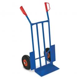 Stahl-Sackkarre mit pannensicheren Reifen, BxTxH 570x500x1070 mm, Tragkraft 250 kg